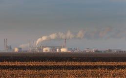 Contaminación industrial pesada Foto de archivo libre de regalías
