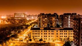 Contaminación ligera Delhi fotografía de archivo