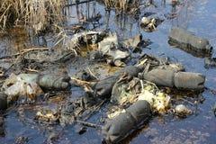 Contaminación por petróleo fotos de archivo
