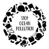 Contaminaci?n de la ecolog?a de la naturaleza ilustración del vector