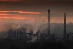 Contaminación atmosférica Fotos de archivo