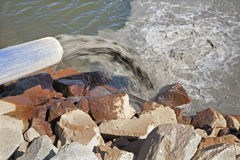 Contaminate of water. Ecology and lake royalty free stock photos