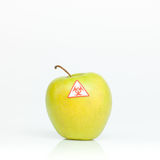 Contaminated apple Stock Photo