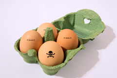 Contaminated egg Stock Image