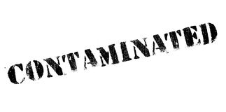 Contaminated rubber stamp Stock Photo