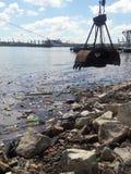 Contamination dans le port du New Jersey Image stock