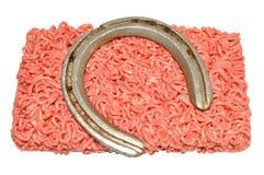 Étoffez souillé avec de la viande de cheval Image stock