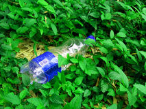 Contamination de déchets solides Photo stock