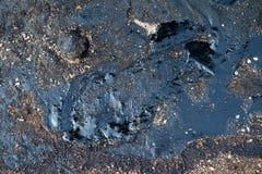 Contamination de pétrole brut photos stock