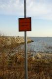 Contamination de plage image stock
