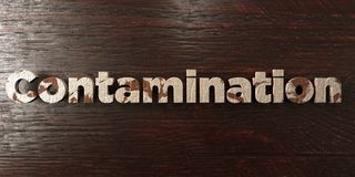 Contamination - grungy wooden headline on Maple  - 3D rendered royalty free stock image. This image can be used for an online website banner ad or a print Royalty Free Stock Photos
