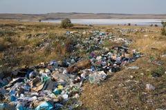 Contamination of nature Stock Image