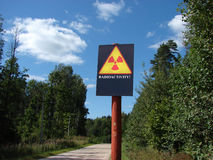 Contamination radioactive Image libre de droits