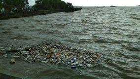 Contaminazione del mare fotografia stock libera da diritti