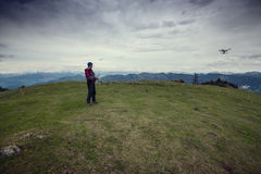 Contaminazione dell'aria durante il viaggio nelle montagne Fotografie Stock