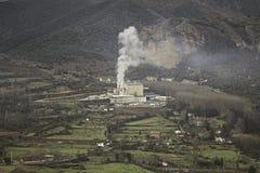 Contaminazione della fabbrica del camino Fotografia Stock Libera da Diritti