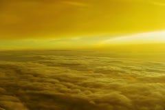 Contaminazione sul piano del cielo Fotografia Stock Libera da Diritti