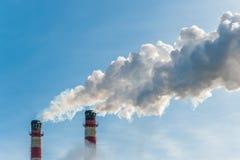 Contamine la atmósfera Foto de archivo