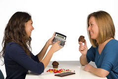 Contando calorias Imagens de Stock Royalty Free
