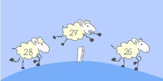 Contando carneiros. Fotografia de Stock