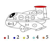 Contando e disegni per i piccoli bambini - vettore Immagine Stock