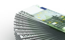 Contando euro Fotografia de Stock Royalty Free