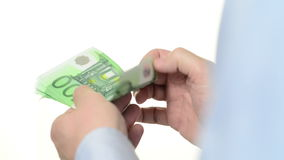 Contando Euros Close su stock footage