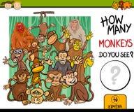 Contando a ilustração dos desenhos animados do jogo Fotos de Stock Royalty Free