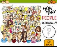 Contando a ilustração dos desenhos animados do jogo Fotografia de Stock Royalty Free