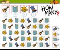 Contando a ilustração dos desenhos animados do jogo Fotografia de Stock
