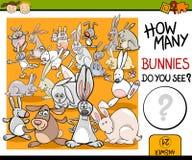 Contando a ilustração dos desenhos animados do jogo Imagens de Stock Royalty Free