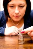 Contando o dinheiro Foto de Stock Royalty Free