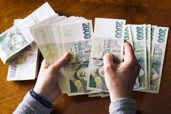Contando o dinheiro Fotografia de Stock Royalty Free