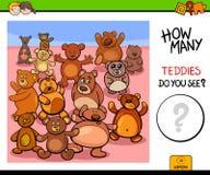 Contando o jogo educacional dos ursos de peluche Imagem de Stock Royalty Free