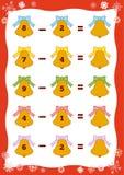 Contando o jogo educacional para crianças Folha da subtração Foto de Stock