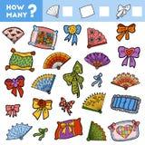 Contando o jogo para crianças Conte quantos artigos ilustração do vetor