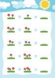 Contando o jogo para crianças prées-escolar Conte os números ilustração royalty free
