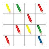 Contando o jogo para crianças prées-escolar Tarefa da matemática Quantos objetos Aprendendo a matemática, números, lógica ilustração royalty free