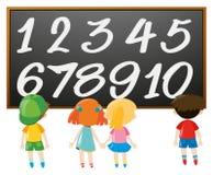Contando o número com meninos e meninas ilustração do vetor