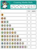 Contando a suficiência de mármore das bolas 4 Imagem de Stock