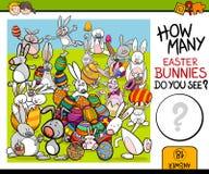 Contando a tarefa com coelhinho da Páscoa ilustração stock