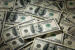 Contant geld $100 Rekeningen Royalty-vrije Stock Afbeeldingen