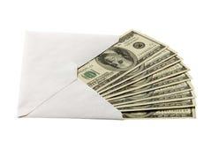 Contant geld in de envelop royalty-vrije stock foto