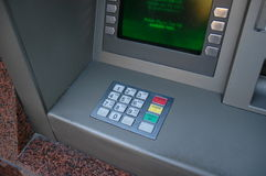Contant geld of de machine van ATM Royalty-vrije Stock Foto
