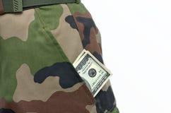 Contant geld in een zak Royalty-vrije Stock Foto's
