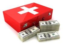 Contant geld en eerste hulp Stock Foto