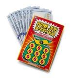 Contant geld en Lottokaartje Royalty-vrije Stock Foto's