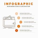 Contant geld, financiën, geld, het persoonlijke, Malplaatje van beursinfographics voor Website en Presentatie r stock illustratie