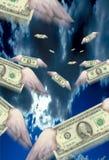 Contant geld met Vleugels Stock Foto