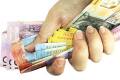 Contant geld ter beschikking Royalty-vrije Stock Afbeelding